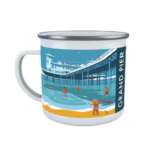 Grand Pier, Weston Super Mare, Somerset Enamel Mug
