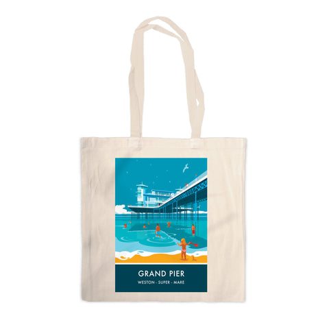 Grand Pier, Weston Super Mare, Somerset Canvas Tote Bag