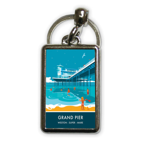 Grand Pier, Weston Super Mare, Somerset Metal Keyring