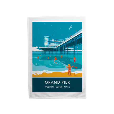 Grand Pier, Weston Super Mare, Somerset Tea Towel