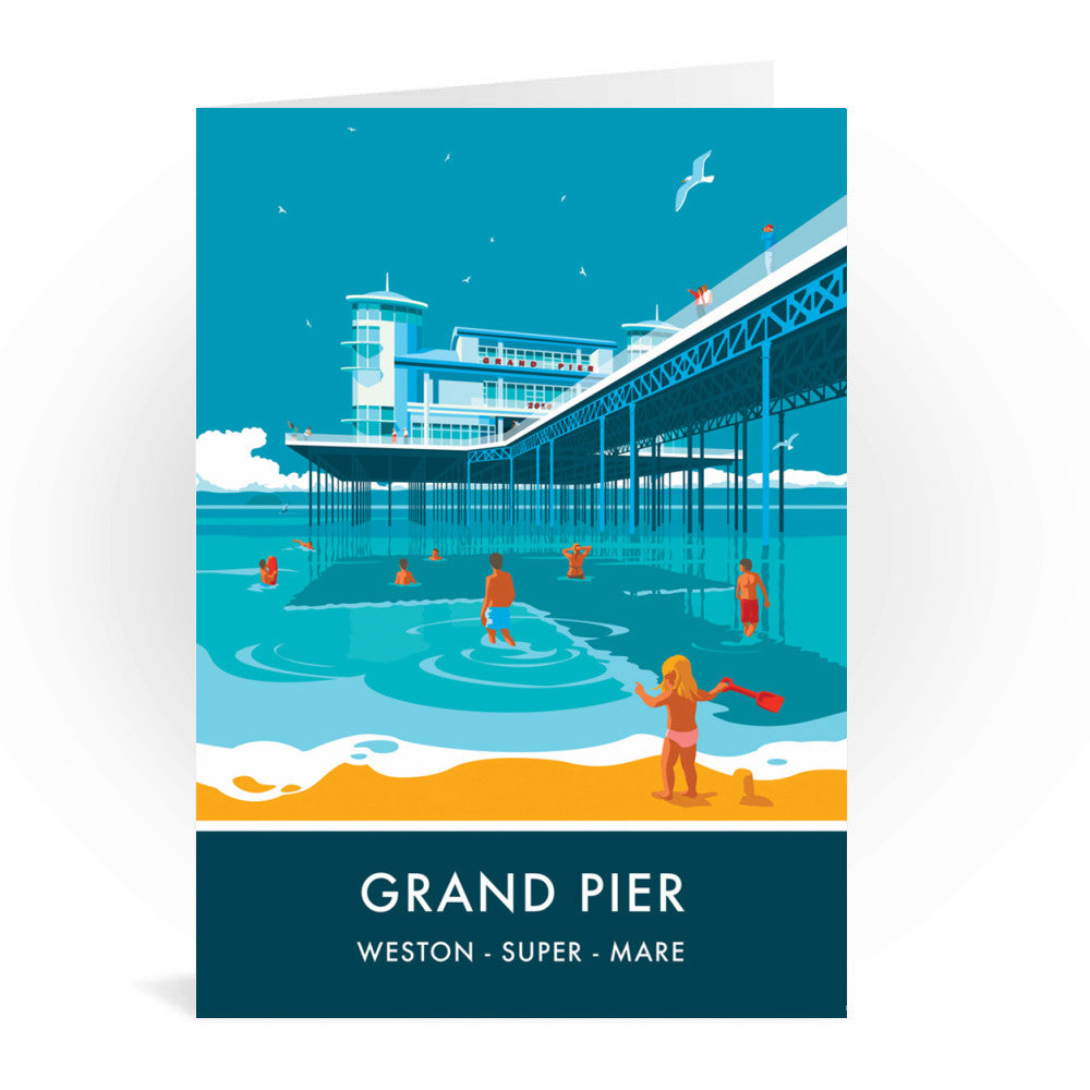 Grand Pier, Weston Super Mare, Somerset Greeting Card 7x5
