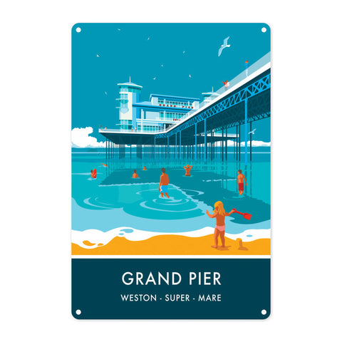 Grand Pier, Weston Super Mare, Somerset Metal Sign