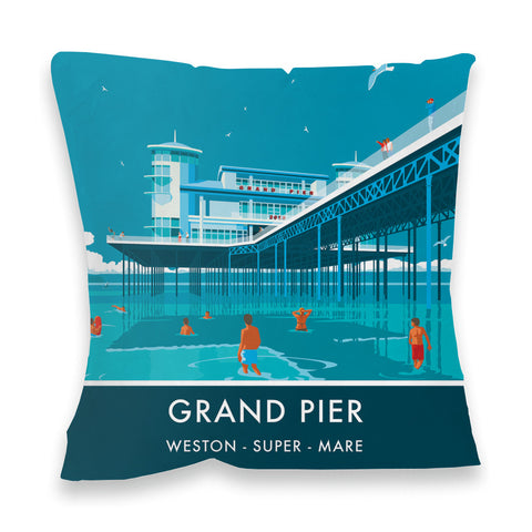 Grand Pier, Weston Super Mare, Somerset Fibre Filled Cushion