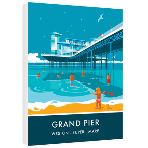 Grand Pier, Weston Super Mare, Somerset 60cm x 80cm Canvas