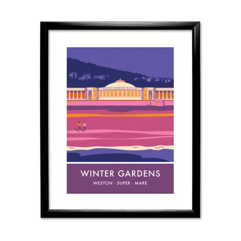 Winter Gardens, Weston Super Mare, Somerset 11x14 Framed Print (Black)