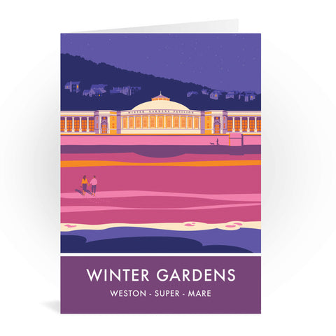Winter Gardens, Weston Super Mare, Somerset Greeting Card 7x5