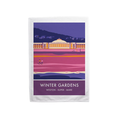 Winter Gardens, Weston Super Mare, Somerset Tea Towel