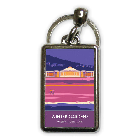 Winter Gardens, Weston Super Mare, Somerset Metal Keyring