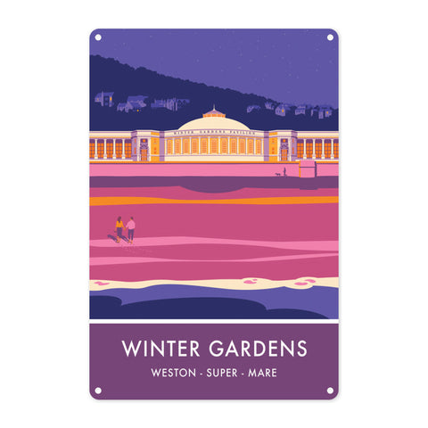 Winter Gardens, Weston Super Mare, Somerset Metal Sign