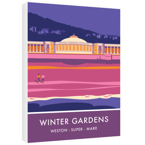 Winter Gardens, Weston Super Mare, Somerset 60cm x 80cm Canvas