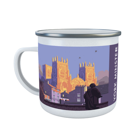 York Minster, York, Yorkshire Enamel Mug