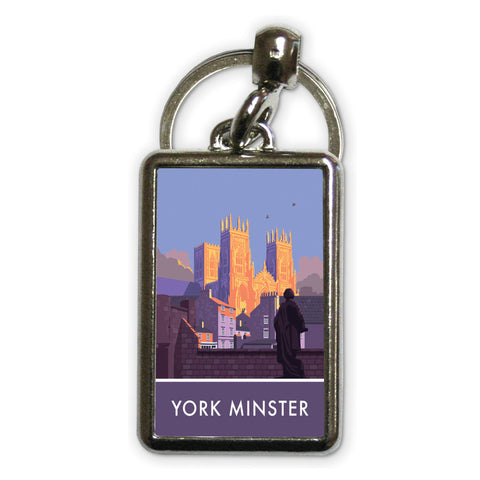 York Minster, York, Yorkshire Metal Keyring