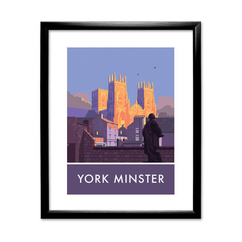 York Minster, York, Yorkshire 11x14 Framed Print (Black)