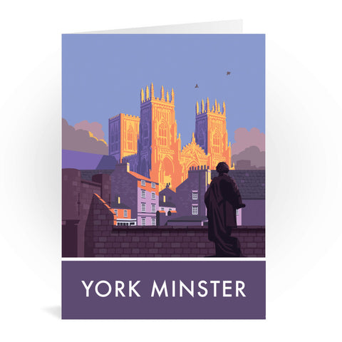 York Minster, York, Yorkshire Greeting Card 7x5