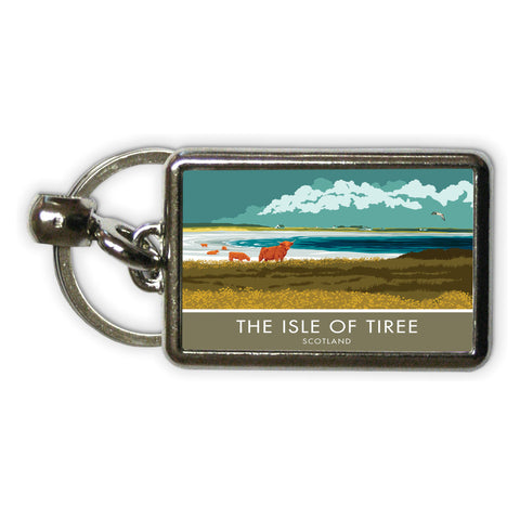 The Isle of Tiree, Scotland Metal Keyring
