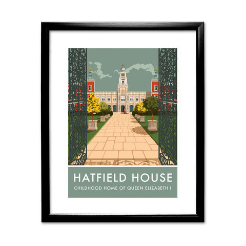 Hatfield House, Hatfield, Hertfordshire 11x14 Framed Print (Black)