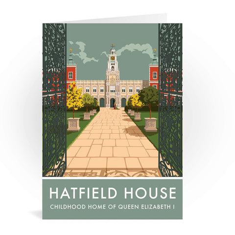 Hatfield House, Hatfield, Hertfordshire Greeting Card 7x5
