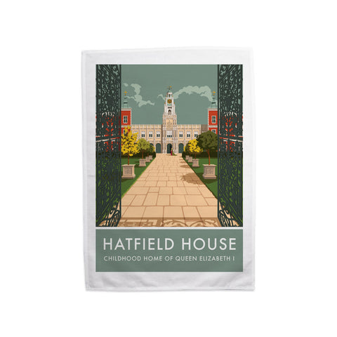 Hatfield House, Hatfield, Hertfordshire Tea Towel