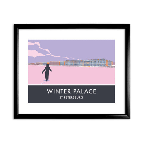 The Winter Palace, St Petersburg, 11x14 Framed Print (Black)