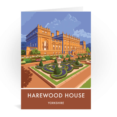 Harewood House, Leeds, Yorkshire Greeting Card 7x5