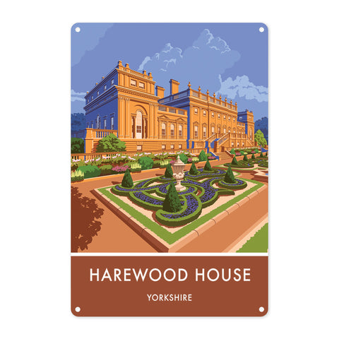 Harewood House, Leeds, Yorkshire Metal Sign