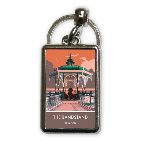 Brighton Bandstand, Brighton, Sussex Metal Keyring