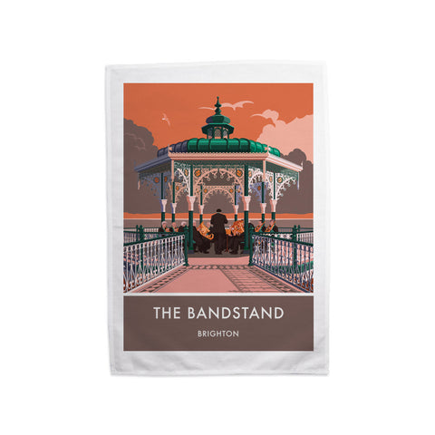 Brighton Bandstand, Brighton, Sussex Tea Towel