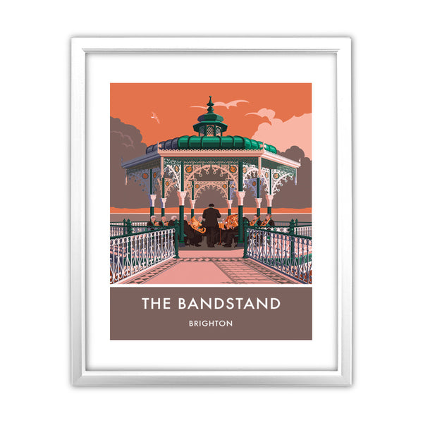 Brighton Bandstand, Brighton, Sussex 11x14 Framed Print (White)