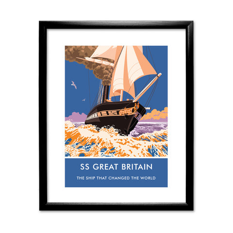 The SS Great Britain 11x14 Framed Print (Black)