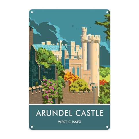 Arundel Castle, Arundel, Sussex Metal Sign