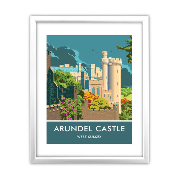 Arundel Castle, Arundel, Sussex 11x14 Framed Print (White)