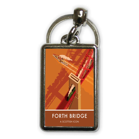 Forth Bridge, Edinburgh Metal Keyring