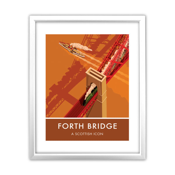 Forth Bridge, Edinburgh 11x14 Framed Print (White)