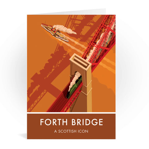 Forth Bridge, Edinburgh Greeting Card 7x5