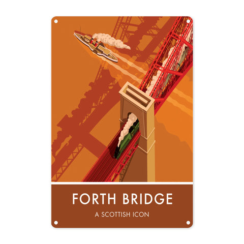 Forth Bridge, Edinburgh Metal Sign
