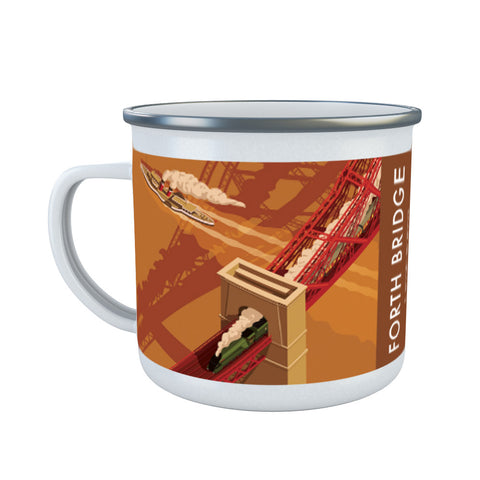 Forth Bridge, Edinburgh Enamel Mug