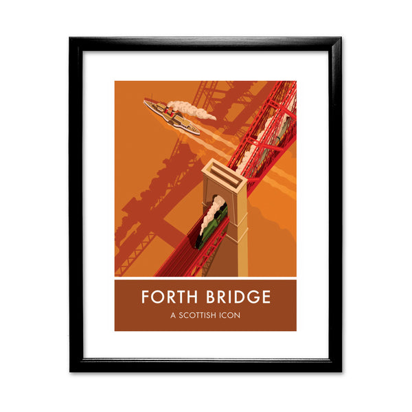 Forth Bridge, Edinburgh 11x14 Framed Print (Black)