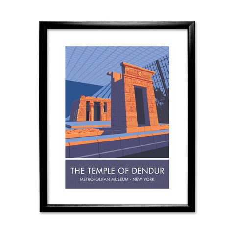 The Temple of Dendur, Metropolitan Museum, New York 11x14 Framed Print (Black)