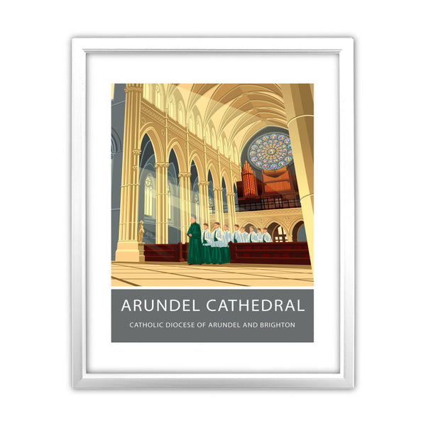 Arundel Cathedral, Arundel, Sussex 11x14 Framed Print (White)