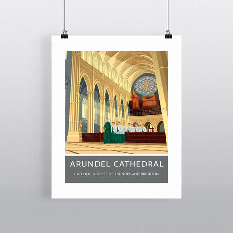Arundel Cathedral, Arundel, Sussex 90x120cm Fine Art Print