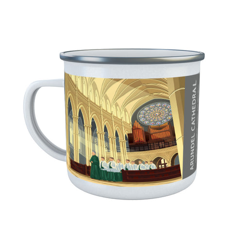 Arundel Cathedral, Arundel, Sussex Enamel Mug