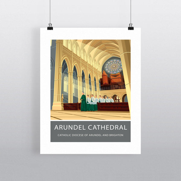 Arundel Cathedral, Arundel, Sussex 11x14 Print