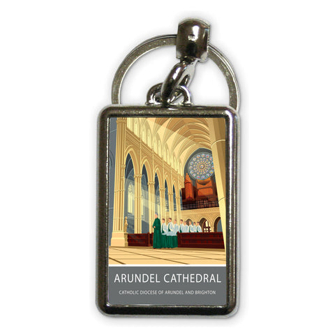 Arundel Cathedral, Arundel, Sussex Metal Keyring