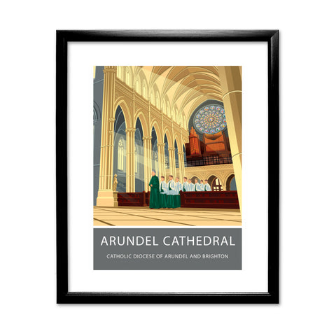 Arundel Cathedral, Arundel, Sussex 11x14 Framed Print (Black)
