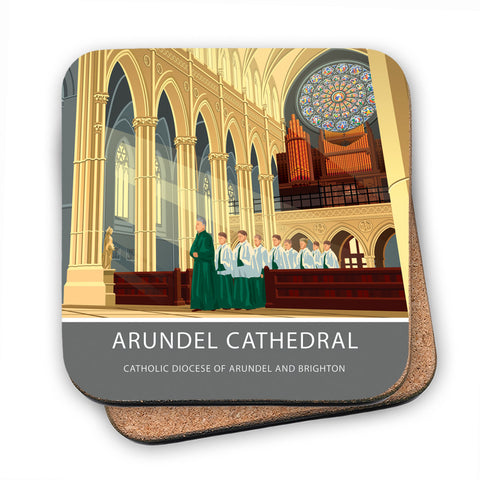 Arundel Cathedral, Arundel, Sussex MDF Coaster