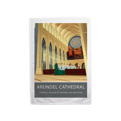 Arundel Cathedral, Arundel, Sussex Tea Towel