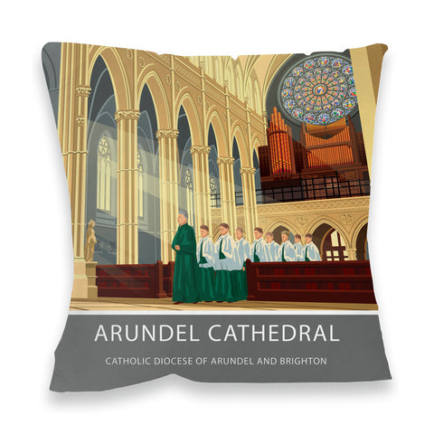Arundel Cathedral, Arundel, Sussex Fibre Filled Cushion