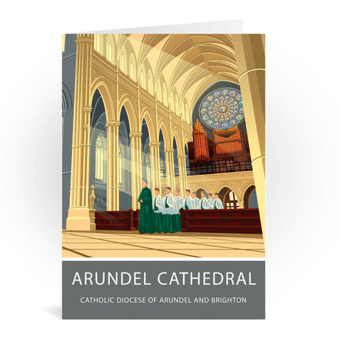 Arundel Cathedral, Arundel, Sussex Greeting Card 7x5