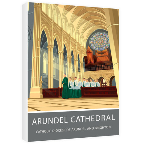 Arundel Cathedral, Arundel, Sussex 60cm x 80cm Canvas
