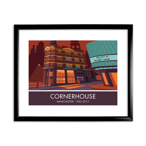 The Cornerhouse, Manchester 11x14 Framed Print (Black)